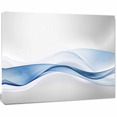 Designart 3D Wave Of Water Splash Abstract CanvasArt Print