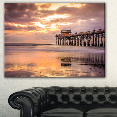 Designart Cocoa Beach Florida Landscape Photo Canvas Art Print