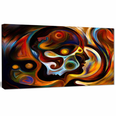 Designart Perspectives Of Inner Paint Abstract Canvas Art work