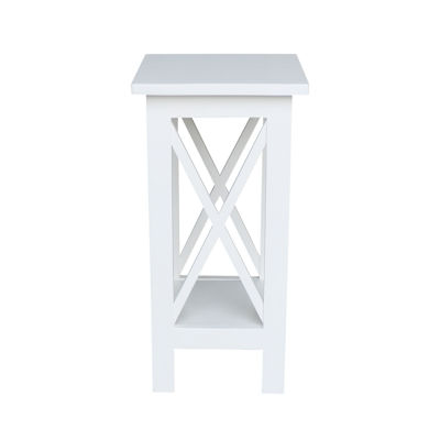 "24"" X-Sided Wood Plant Stand"