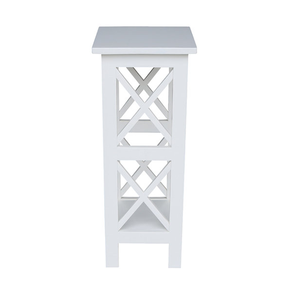 "30"" X-Sided Wood Plant Stand"