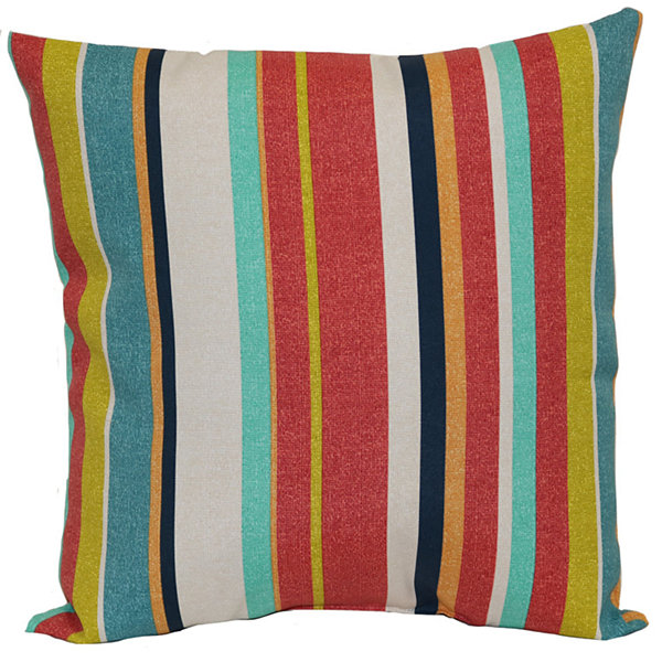 Outdoor Oasis Stripe Square Outdoor Pillow