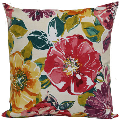 Outdoor Oasis Mila Floral Square Outdoor Pillow