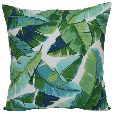 Outdoor Oasis Tropical Leaf Square Outdoor Pillow