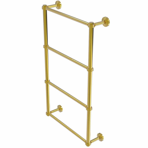 Allied Brass Waverly Place Collection 4 Tier 30 Inch Ladder Towel Bar with Groovy Detail
