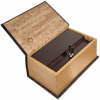 Barska Antique Book Lock Box with Key Lock