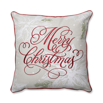 Pillow Perfect Merry Christmas 17X17 Square Throw Pillow