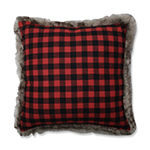 Pillow Perfect Fur Reindeer 18X18 Square Throw Pillow