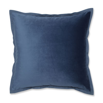 Pillow Perfect Velvet Flange 18X18 Square Throw Pillow