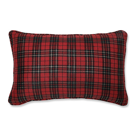 Pillow Perfect Holiday Plaid 20X12 Rectangular Throw Pillow