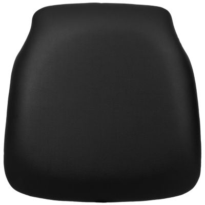Hard Black Vinyl Chiavari Chair Cushion