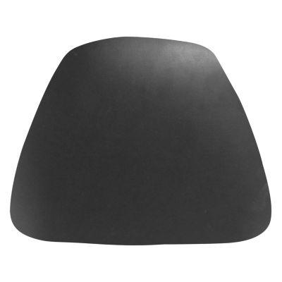 Hard Black Vinyl Chiavari Barstool Cushion