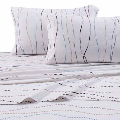 Tribeca Living Dot Printed Flannel Sheet Set