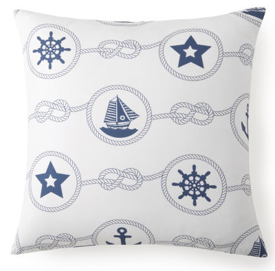 Nautical Board Euro Sham Blue Nautical