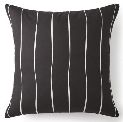 Scrollwork Euro Sham Black & White Stripe