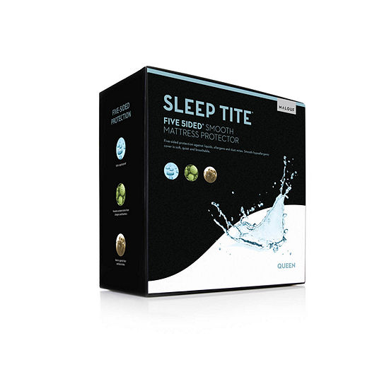 SLEEP TITE Five Sided Hypoallergenic Mattress Protector With OMNIPHASE and TENCEL Lyocell