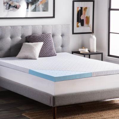 lucid 25 inch gel infused memory foam mattress topper