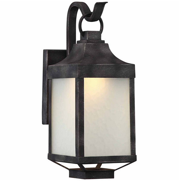 Filament Design 1-Light Iron Black Outdoor Wall Sconce