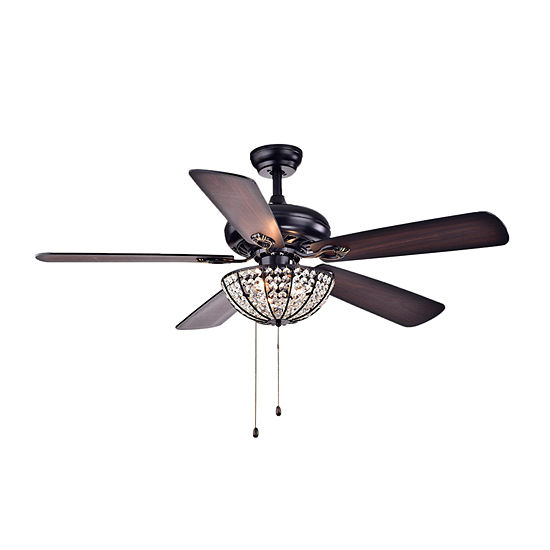 Hannele Bowl 3-light Black 52-inch Ceiling Fan