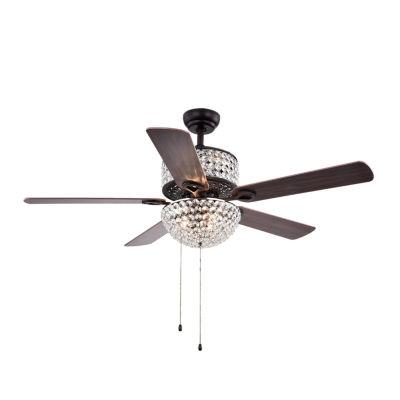 Laure Crystal 6-light 52-inch Ceiling Fan