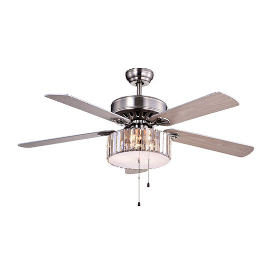 Kimalex Wood Nickel Crystal Ceiling Fan