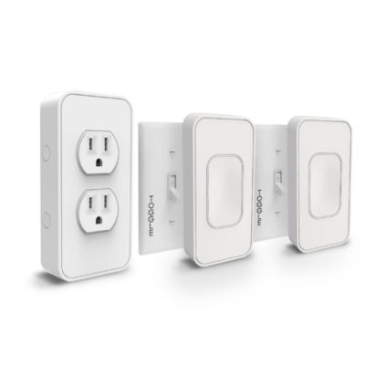 Switchmate Bonus Starter Kit - 2 Toggle Switches and 1 Power Outlet