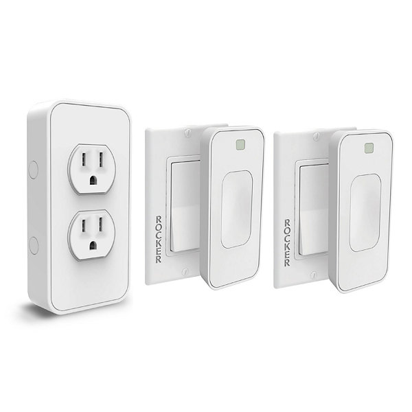 Switchmate Slim Bonus Starter Kit - 2 Rocker Switches and 1 Power Outlet