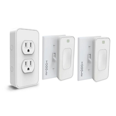 Switchmate Slim Bonus Starter Kit - 2 Toggle Switches and 1 Power Outlet