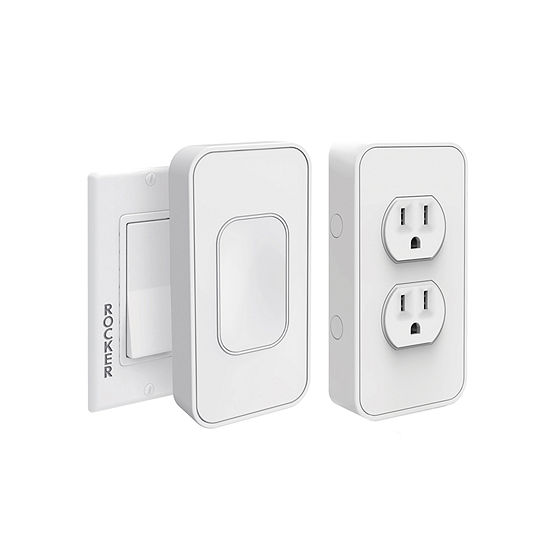 Switchmate Starter Kit - 1 Rocker Switch and 1 Power Outlet