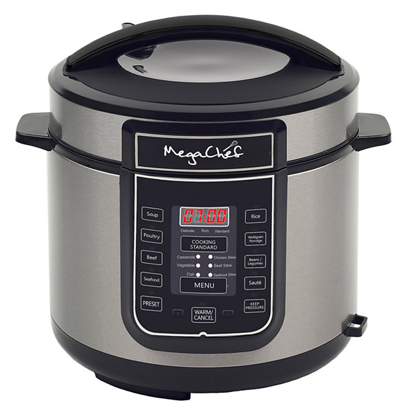 Megachef 6 Quart Digital Pressure Cooker with 14 Pre-set Multi Function Features