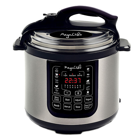 Megachef 8 Quart Digital Pressure Cooker With 13 Pre Set Multi Function Features