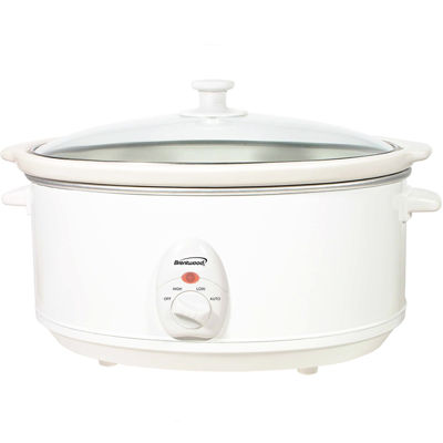 Brentwood 6.5QT Slow Cooker White Body