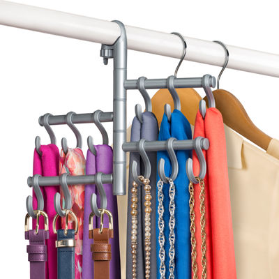 Lynk® Hanging Pivoting Scarf Holder - Jewelry, Belt, Accessory Hanger