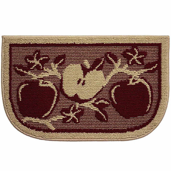 Structures Apple Orchard Textured Loop Wedge Kitchen Mat