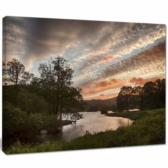 Designart Sunset Over Rydal Waters Landscape Artwork Canvas