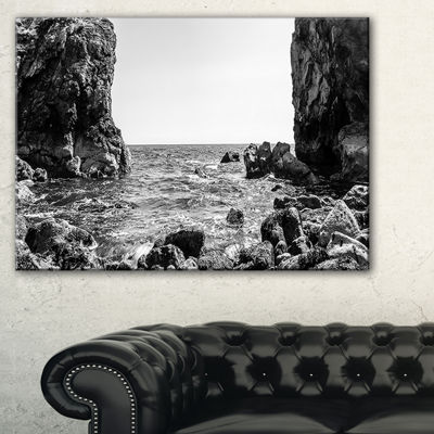 Designart Bottom Cliffs In Dorset England SeascapeCanvas Art Print
