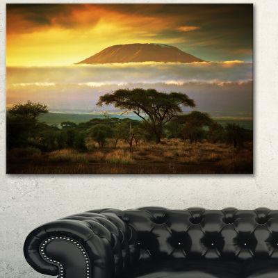 Design Art Mount Kilimanjaro Photography Landscape Canvas Print