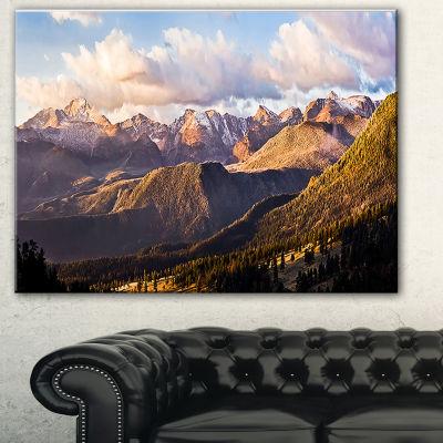 Design Art Clouds Over Long's Peak Landscape Canvas Print