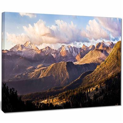 Designart Clouds Over Long's Peak Landscape CanvasPrint