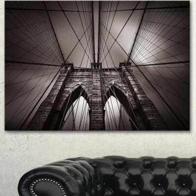 Design Art Brooklyn Bridge In NYC USA Canvas Art Print