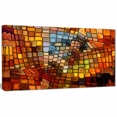 Designart Dreaming Of Stained Glass Abstract Canvas Artwork