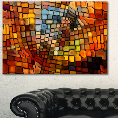 Design Art Dreaming Of Stained Glass Abstract Canvas Artwork