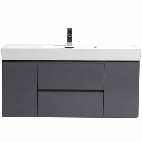 "Moreno Bath MOF 48"" Wall Mounted Modern Bathroom Vanity with Acrylic Sink"