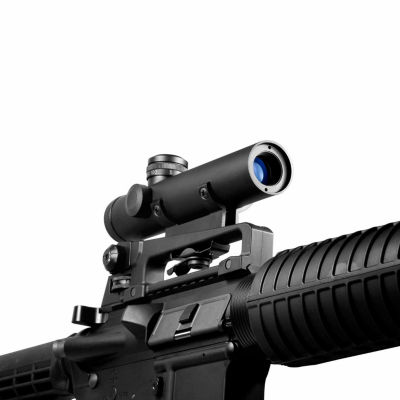 Barska 4x20mm Electro Sight Carry Handle Mil-Dot Rifle Scope w/ BDC Turret