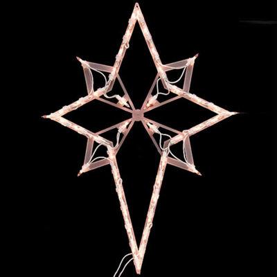 "22"" Lighted Star of Bethlehem Christmas Window Silhouette Decoration"""