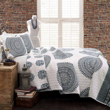 Lush Décor Shaila Medallion 3pc Quilt Set