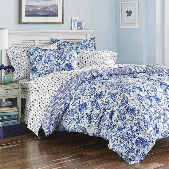Poppy & Fritz Brooke Aqua Comforter Set