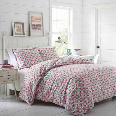 Poppy & Fritz Aubrey Pink Flannel Comforter Set