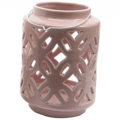 """7"""" City Chic Pastel Pink Floral Cut-Out PorcelainTea Light Candle Holder"""""""