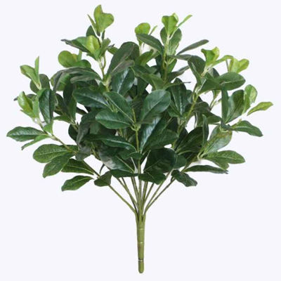 "18"" Decorative Artificial Green Two Tone Polyscias Floral Bush"""